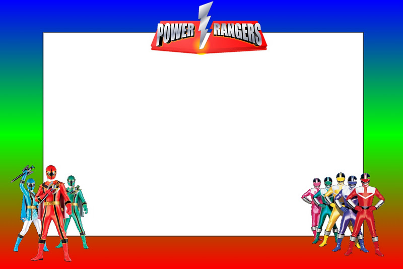 Power Rangers: Free Printable Invitations.   Oh My Fiesta ...