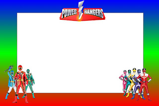 Power Rangers Free Printable Invitations, Labels or Cards.