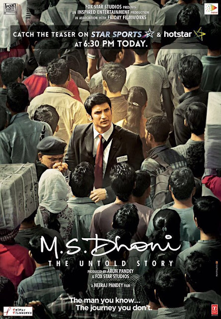 Sushant Singh Rajput in the movie M.S.Dhoni.