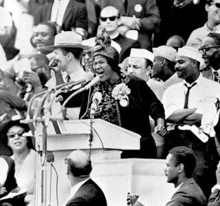 Una de las pocas mujeres negras que tomaron la palabra aquel día.