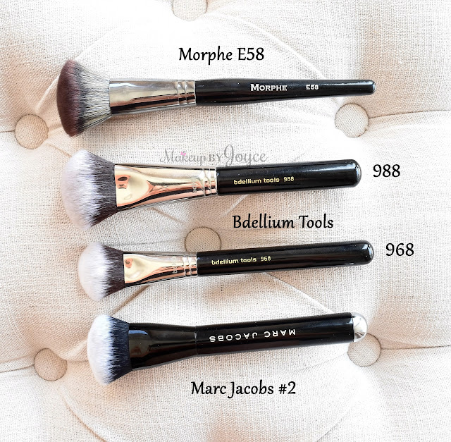 Marc Jacobs #2 Dupe Morphe Elite II Collection E58 Angled Buffer Powder Contour Brush Review