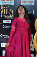 Monal Gajjar in Maroon Gown Stunning Cute Beauty at IIFA Utsavam Awards 2017 030.JPG