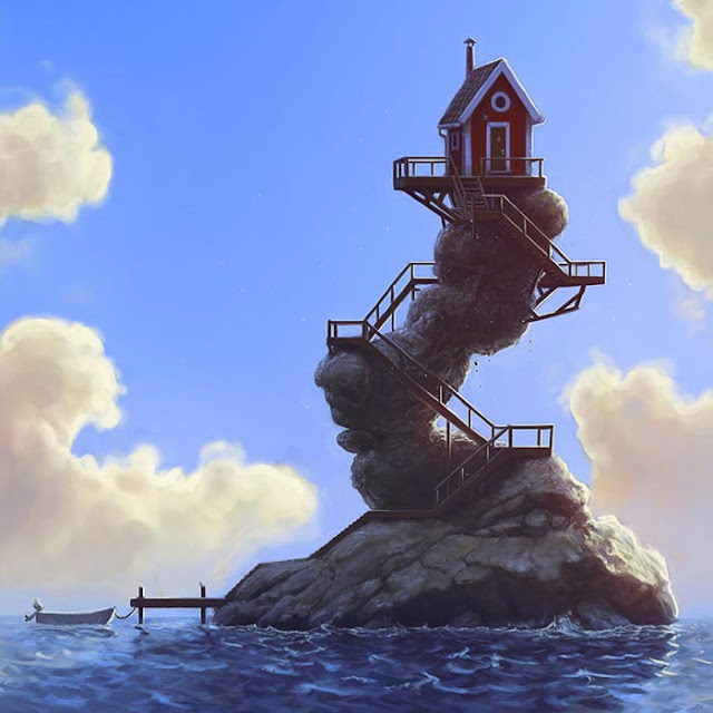 Lone House in The Sea ''The Hermit'' Wallpaper Engine