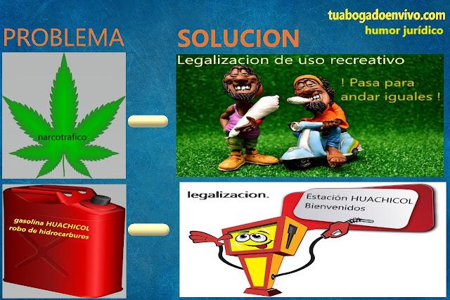 huachicoleros y marihuanos