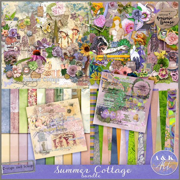 Summer Cottage Bundle By A&K Art