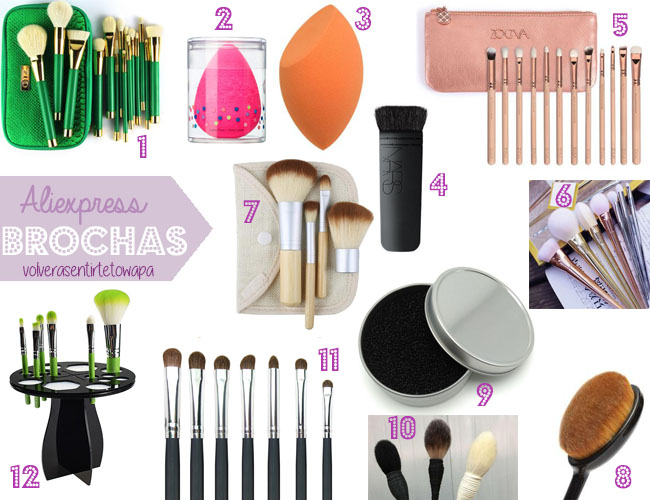Brochas de Maquillaje - Aliexpress