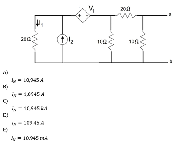 Considere o circuito linear de corrente contínua dada na figura 7