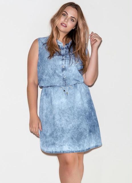 Vestido Chemise Marmorizado Jeans Mais Mulher 227,99