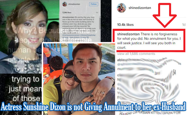 Actress Sunshine Dizon is not Giving Annulment to her ex-Husband