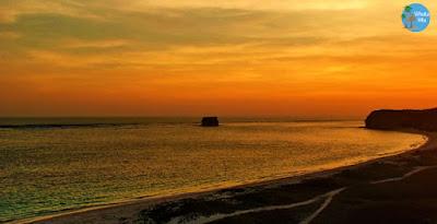 Sunset Pantai Kaliantan Lombok Timur