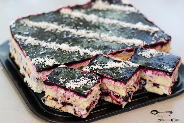 ciasta i desery, ciasto bez pieczenia, przepis na ciasto bez pieczenia, ciasto z jagodami, sernik na zimno, sernik na zimno z jagodami, szybki sernik na zimno
