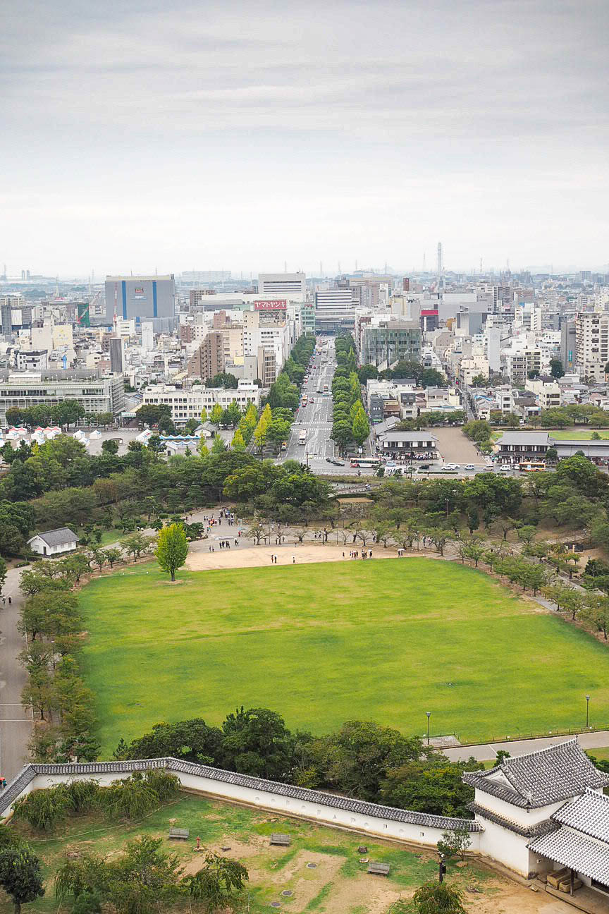 View of Himeji from the top of Himeji Castle