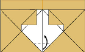 Step 9: Fold in the dotted line