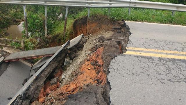 Segundo Polícia Rodoviária, desvio aumenta percurso em 74 quilômetros (Foto: Reprodução / Redes Sociais)