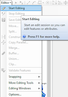Cara Mengisi Atribut Peta di ArcGIS start editing