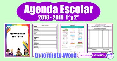 AGENDA ESCOLAR 2018 - 2019 1° y 2° Grado