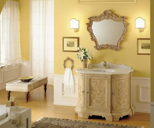 Italian Bathroom Design With Dramatic Color Scheme Home