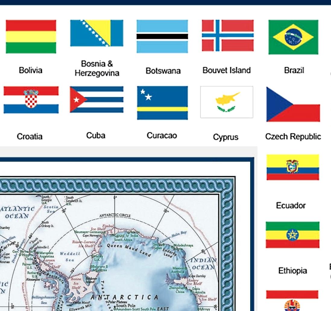 mapa do mundo flags