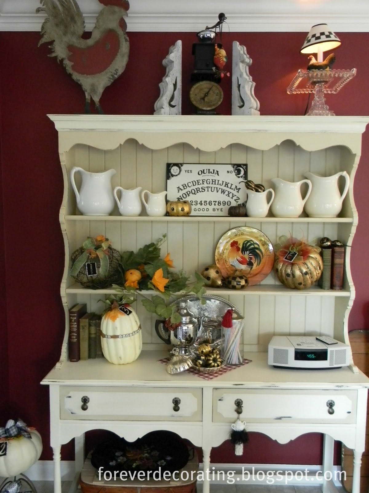 Decorative Items For Living Room: Forever Decorating!: Hutch Decor 101-107