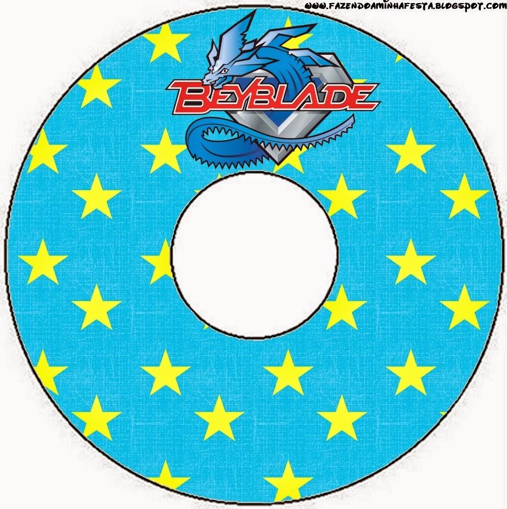 Etiqueta CD´s para Imprimir Gratis de Beyblade.