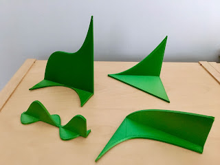 Several different calculus models of 3D printed curve/derivative pairs