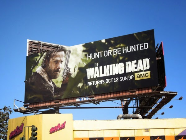 The Walking Dead season 5 Hunt or be hunted billboard