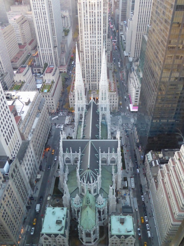 St Patricks Cathedral from above NYC