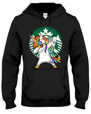 Unicorn Dabbing Starbucks Coffee Hoodie Sweatshirt
