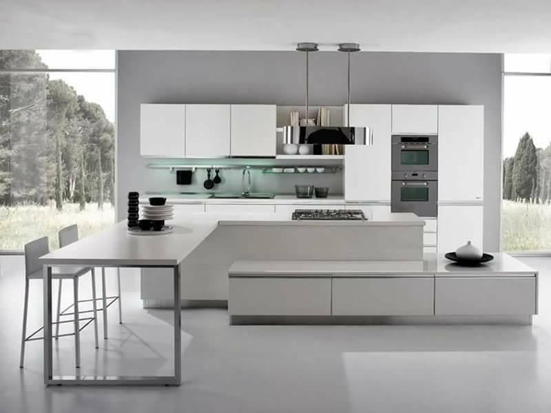 Model Dapur Modern Mewah Elegant Putih 033
