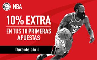 sportium NBA: 10% Extra durante Abril