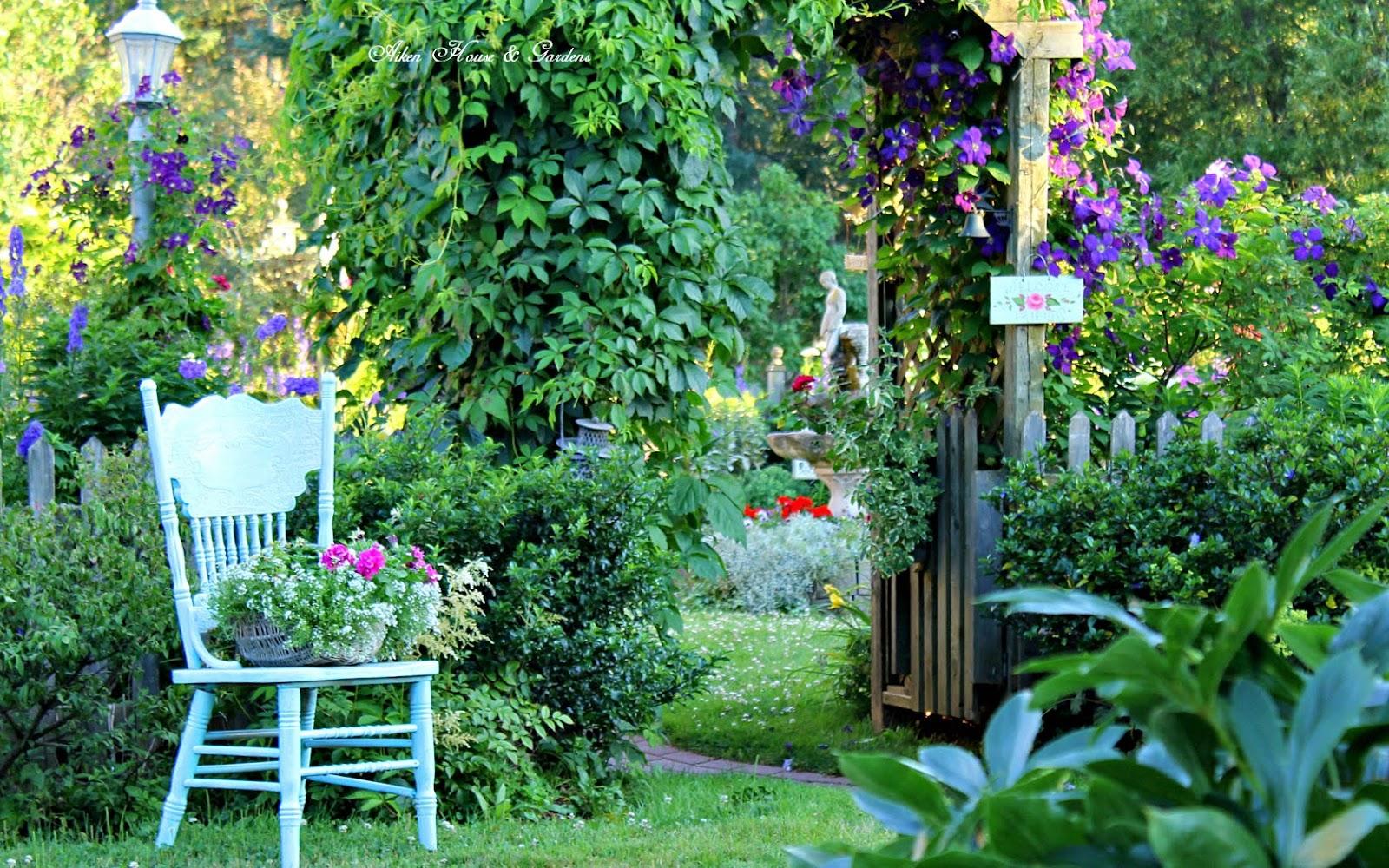 Aiken house gardens french garden blues for Aiken house