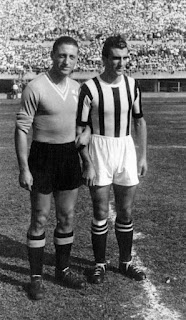 Rava (left) moved to Alessandria, where he played against Juventus