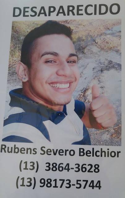 Desaparecido - Rubens Severo Belchior de Jacupiranga foi visto em Registro-SP