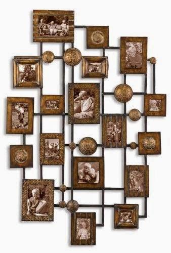 Natane Decorative Metal Wall Art 5x7 Collage Frames