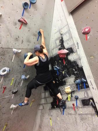 Sarah rock climbing