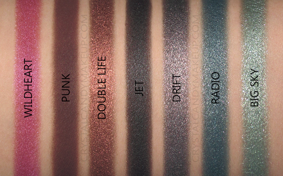 Urban Decay UD Born To Run Eyeshadow Palette Swatches