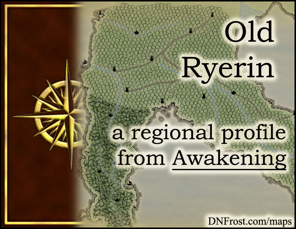 Old Ryerin: the fallen civilization of the tree elves http://www.dnfrost.com/2015/11/old-ryerin-regional-profile.html #TotKW A regional profile by D.N.Frost @DNFrost13 Part 12 of a series.