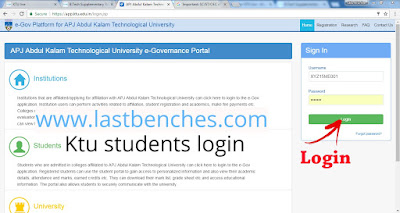 Ktu students login