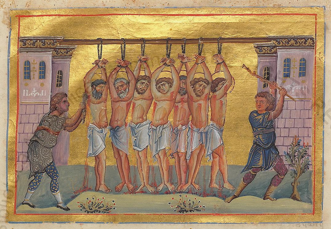 Why do the martyrs Uaru pray for dead unbaptized