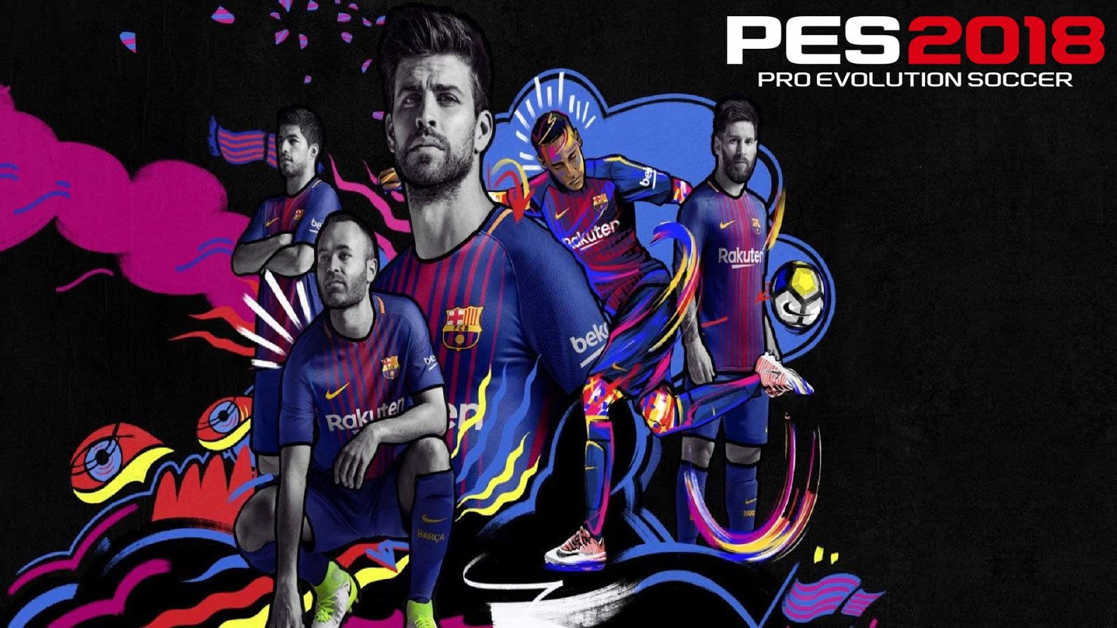 Startscreen Barca PES 2018 for PES 2017 By AD Mod's