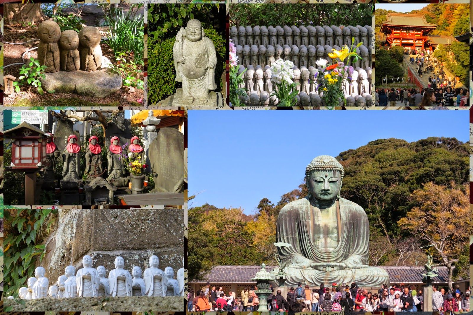 Temples and Great Buddha in Kamakura Japan