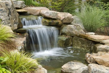 Home And Garden : How to Build a Simple Backyard Waterfall