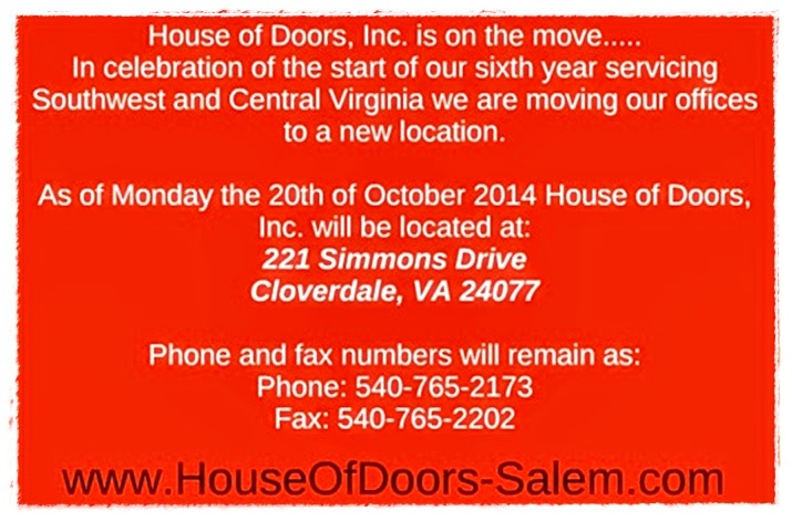 House of Doors - Roanoke, VA 221 Simmons Drive  Cloverdale, VA 24077