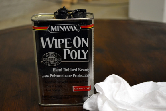 Minwax Wipe-on Poly Sealing Stained furniture: How to Stain a Coffee Table | DIY Playbook