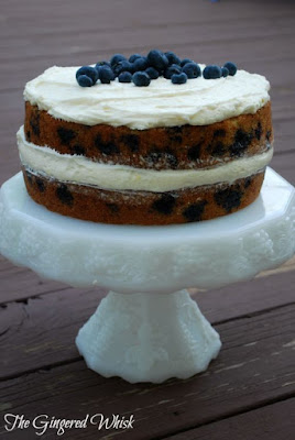 Blueberry Zucchini Cake with Lemon Buttercream Frosting (The Gingered Whisk)