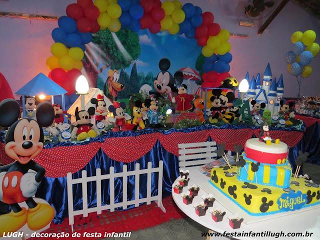 Decoração infantil Mickey Mouse