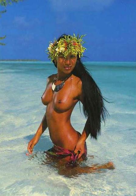 Polynesian girls native nudity
