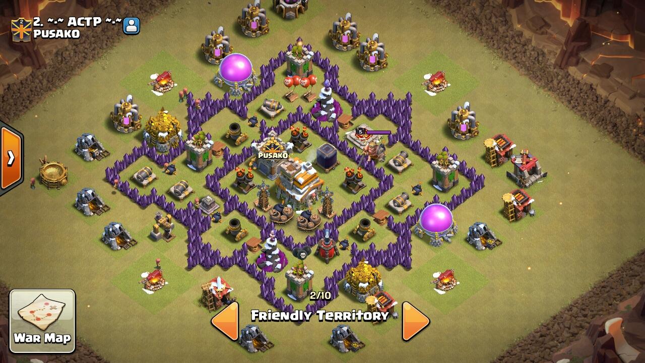 Base Coc Th 7 Terkuat Anti Bintang 3 7