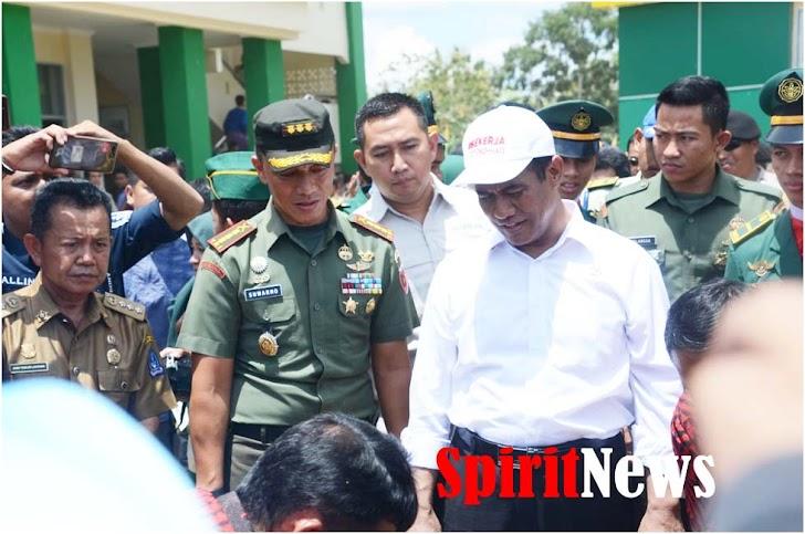 Danrem 141/Tp, Dampingi Mentan Meresmikan Kapus II Politehnik Peternakan di Kab Bone