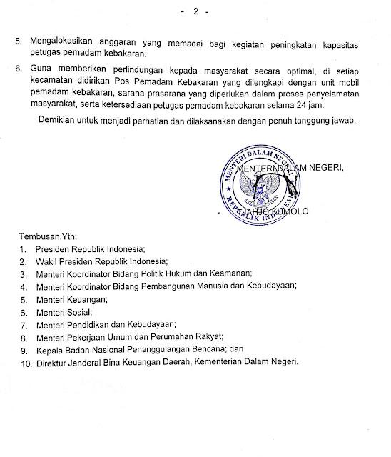 Pemadam Kebakaran Kota Surabaya: MENDAGRI : KESEJAHTERAAN